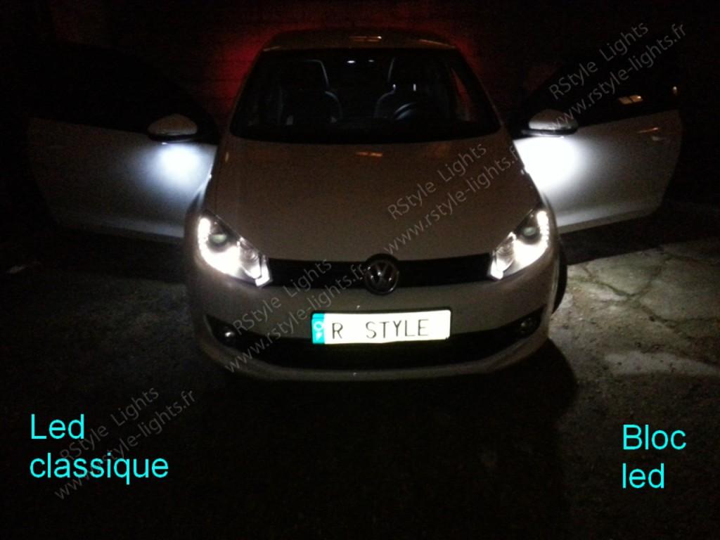 ampoules leds voiture vs blocs full rétroviseurs Volkswagen