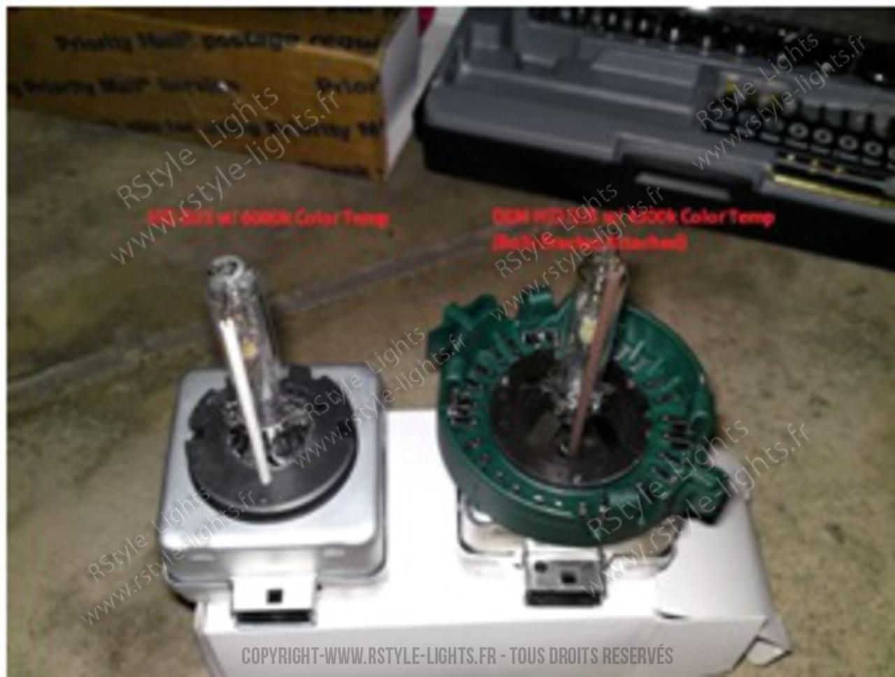 Remplacement changement ampoule D1S D1R D3S D3R et D2S D2R D4S D4R 10