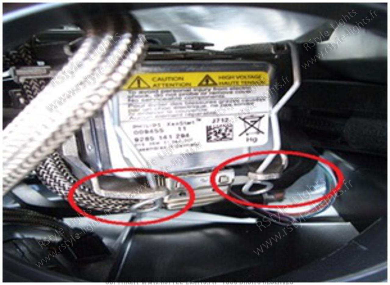 Remplacement changement ampoule D1S D1R D3S D3R et D2S D2R D4S D4R 7