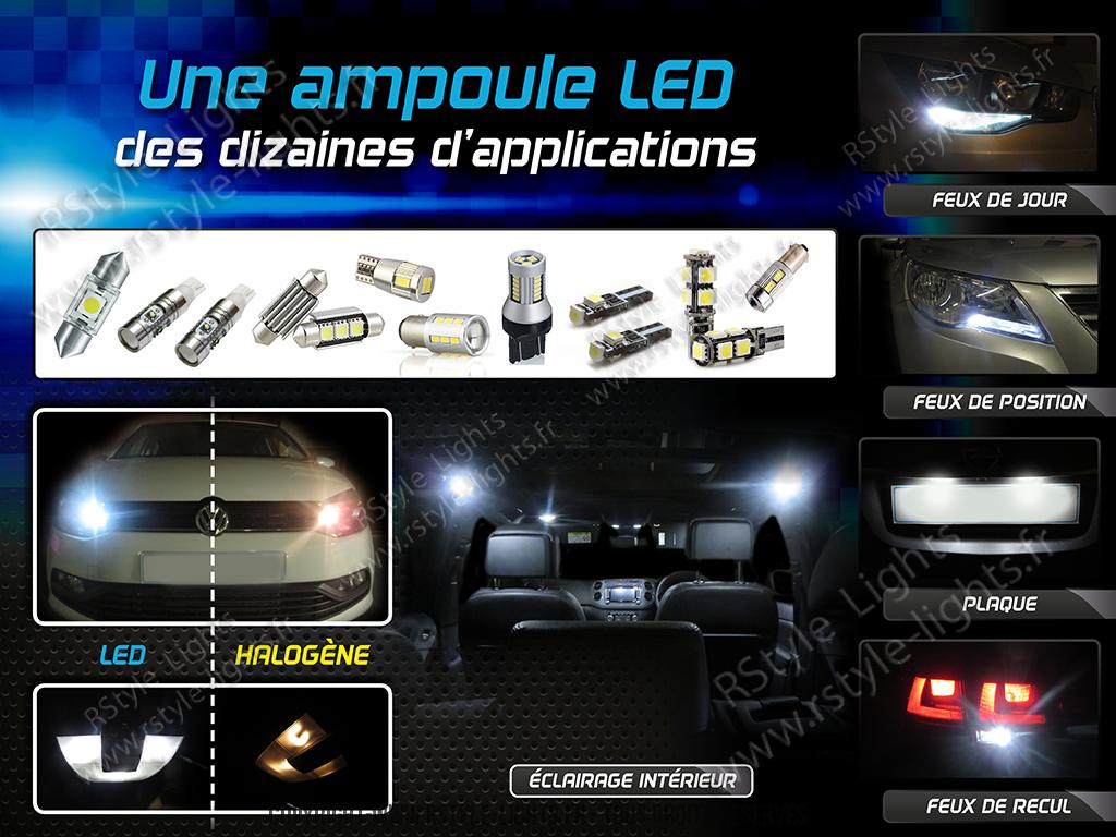 Image présentation ampoule LED voiture rstyle lights
